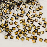 Swarovski® crystal - No Hotfix - Article 2400 - SQUARE - CRYSTAL DORADO - 4 x 4 mm