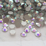 real photo of Crystal AB Swarovski Crystals in small sizes