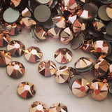 Swarovski No Hotfix Crystal Rose Gold copper Flat Backs Article 2088 XIRIUS