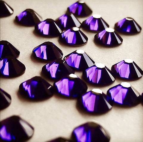 Swarovski No Hotfix Crystal Purple Velvet Flat Backs Article 2088 XIRIUS