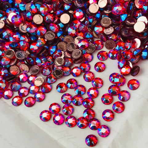 real photo of Hyacinth Shimmer crystals from Swarovski