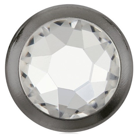 Swarovski® crystal - Hotfix - Article 2078/H - Framed Flat Back - CRYSTAL (clear) - SS34 - Gun Metal
