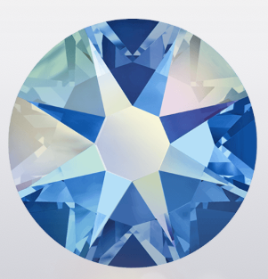 stock image of Swarovski Crystal Hotfix in Sapphire AB colour