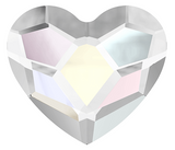Swarovski® crystal - No Hotfix - Article 2808 - HEART - CRYSTAL AB - 6 mm