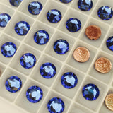Swarovski Crystals Sapphire Blue glue on stones gems flat backs rhinestones diamantes dancing hotfix iron on