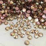 real photo of Swarovski Crystal Golden Shadow Hotfix article 2078 XIRIUS Rose