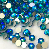 actual photo of Blue Zircon Shimmer from Swarovski Crystal no Hotfix effects range