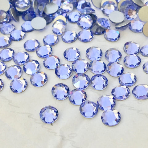 real scatter photo of Swarovski Crystal No Hotfix diamantes in Provence Lavender
