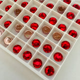 real photo of Swarovski Crystals Hotfix variety Light Siam Red colour