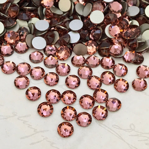 Swarovski® crystal - No Hotfix - Article 2088 - BLUSH ROSE - 5 sizes available