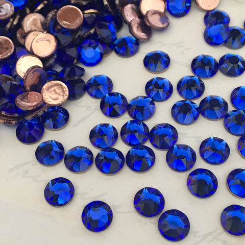 actual photo of the new Swarovski colour release Majestic Blue a vibrant electric blue