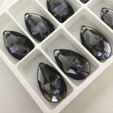 Swarovski® crystal - Article 3230 - DROP - GRAPHITE - 28 x 17 mm - 2 sizes available