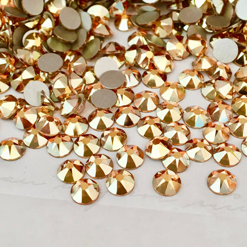 actual photo of Swarovski Crystal Metallic Sunshine a lovely bright gold colour
