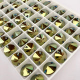 Swarovski® crystal - Article 3200 - RIVOLI - CRYSTAL IRIDESCENT GREEN - 10 mm