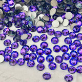 real photo of Swarovski Crystal flat back ss20 heliotrope a purple blue colour mix