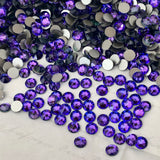 stock photo of Swarovski Crystal flat back ss20 heliotrope a purple blue colour mix