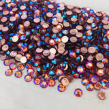 group photo of swarovski crystals in tangerine shimmer colour