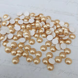 real photo of vintage gold pearl from swarovski hotfix range