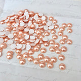 Swarovski Hotfix Crystal Rose Gold Pearl Flat Backs Article 2080/4