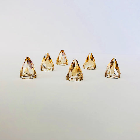 Swarovski® crystal - Article 3297 - ROUND SPIKE - CRYSTAL GOLDEN SHADOW - 10 mm