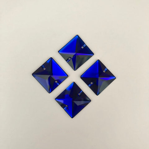 Swarovski® crystal SEW-ON STONES - Article 3240 - SQUARE - COBALT - 22 mm