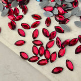 Swarovski® crystal - Hotfix - Article 2200 - NAVETTE - SCARLET - 8 x 4 mm