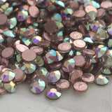 actual photo of bulk Swarovski hotfix Crystal Aurora Borealis oil slick colour