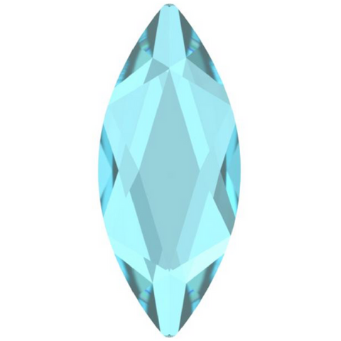 stock photo of Swarovski Crystal Hotfix shapes in Marquise article 2201 Aquamarine colour