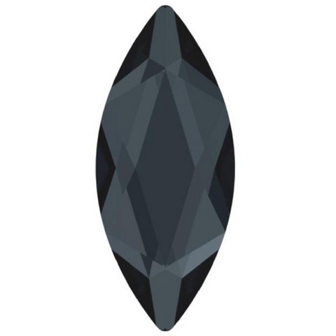 stock photo of Swarovski Crystal Hotfix shapes in Marquise article 2201 Graphite colour