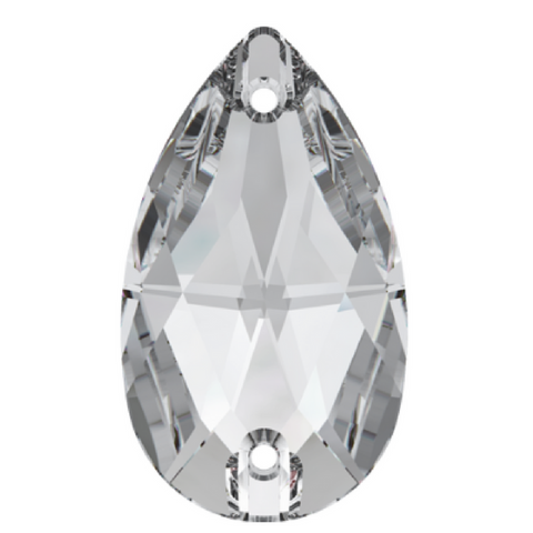Swarovski Sew on stone Pear Teardrop Crystal 2 holes Article 3230