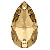 Swarovski® crystal - Article 3230 - TEARDROP - CRYSTAL GOLDEN SHADOW - 28 x 17 mm