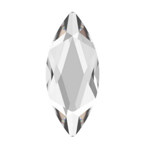 stock image of Swarovski Crystal Article 2201 Marquise Navette clear coloured shape