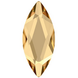 Swarovski® crystal - No Hotfix - Article 2201 - MARQUISE - CRYSTAL GOLDEN SHADOW - 14 x 6 mm