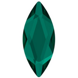 stock image of emerald green swarovski stone marquise cut