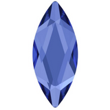 stock image of Sapphire coloured flat back stone from Swarovski crystal elements marquise cut