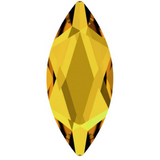 stock image of sunflower yellow coloured stone in marquise cut flat back from swarovski crystal elements