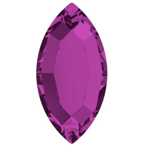 stock image of Swarovski Crystal article 2200 Navette Flat Back in Amethyst purple colour