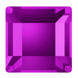 Stock image of Amethyst Square Flat Backs from Swarovski Crystal No Hotfix Range article 2400