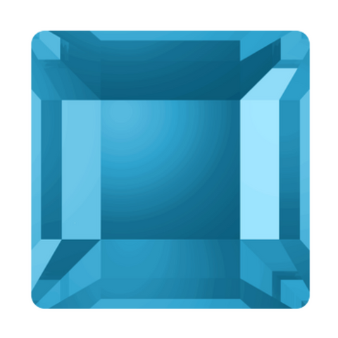 Swarovski Crystal stock photo of article 2400 square flat backs in Aquamarine