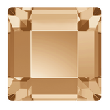 stock image of Swarovski Crystal Square Flat Backs Article 2400 Golden Shadow colour