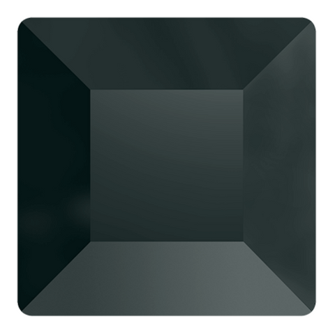 stock photo of Swarovski Crystal No Hotfix Square Flat Backs in Jet Hematite colour