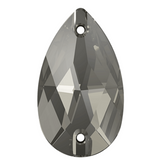 Swarovski® crystal - Article 3230 - DROP - BLACK DIAMOND - 2 sizes available