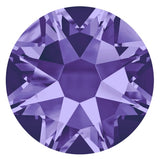 stock photo of Swarovski Elements No Hotfix Tanzanite crystals mauve lilac lavender colour