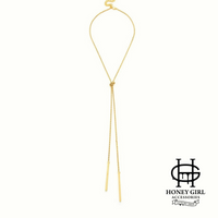 The Queen Necklace-Double Bar Chain Necklace