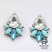 The Cold Summer Earrings-Vintage Rhinestone Earrings