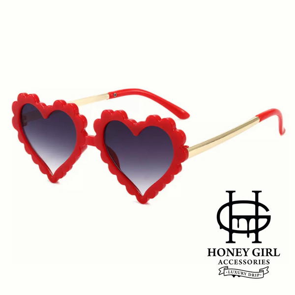 The Alanah Myielle Sunglasses-Heart Sunglasses