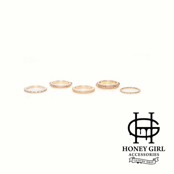 Somebody Loves You Baby-5 Piece Ring Set