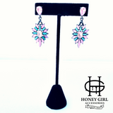 The Icy Girl Earrings-Dangle Drop Rhinestone Earrings