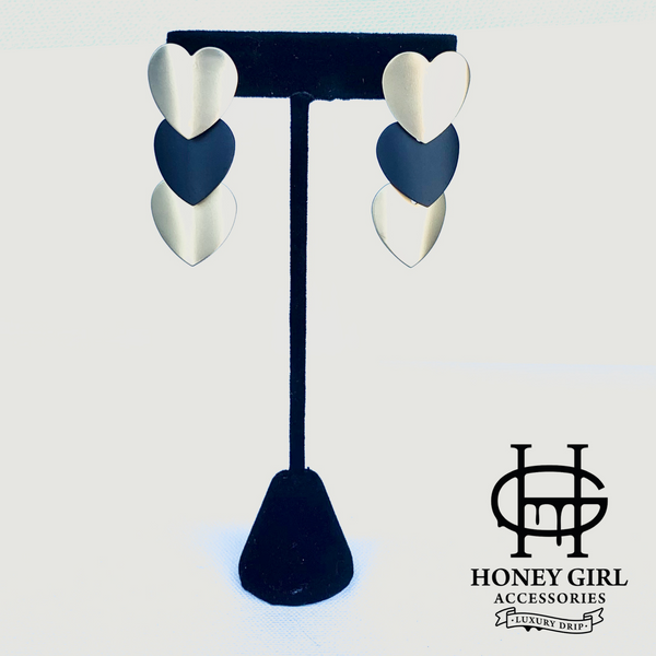 The Ever Ever Earrings-Heart Shaped Drop Earrings