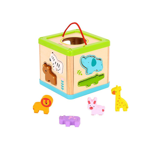 Tooky Toy Animal Sorter Cube